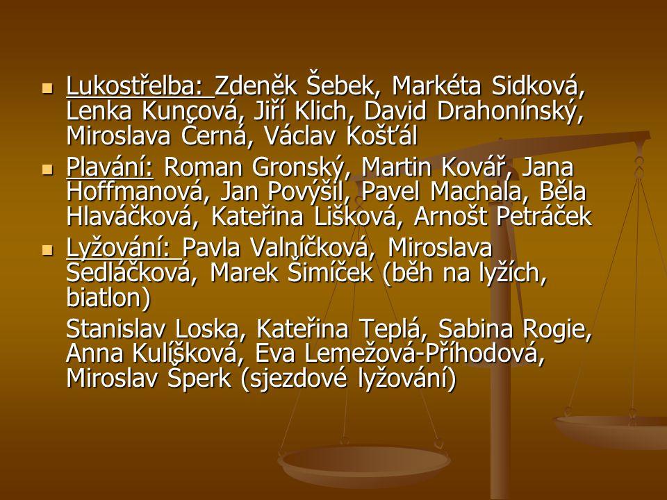 Lukostřelba: Zdeněk Šebek, Markéta Sidková, Lenka Kuncová, Jiří Klich, David Drahonínský, Miroslava Černá, Václav Košťál Lukostřelba: Zdeněk Šebek, Ma