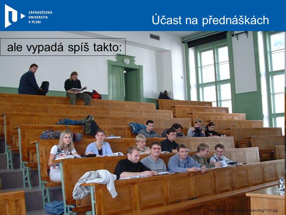 Účast na přednáškách ale vypadá spíš takto: http://www.km.fjfi.cvut.cz/main/img/101r.jpg