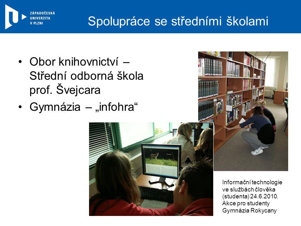 Spolupráce se středními školami Obor knihovnictví – Střední odborná škola prof.