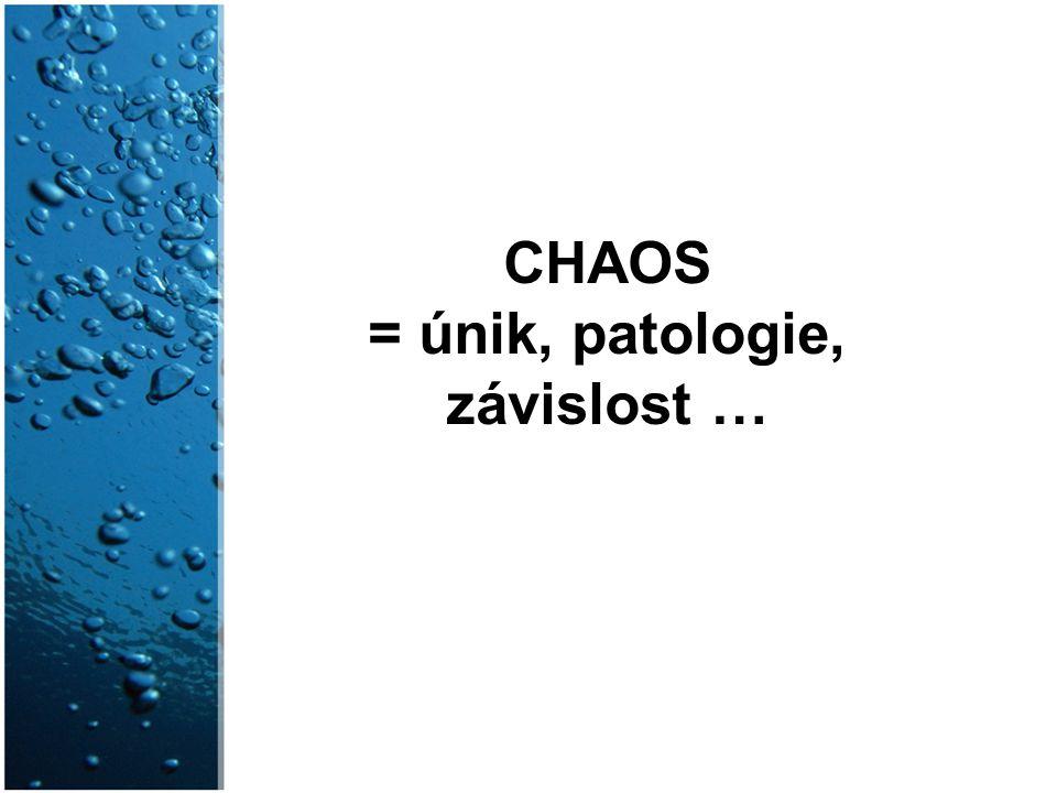 CHAOS = únik, patologie, závislost …