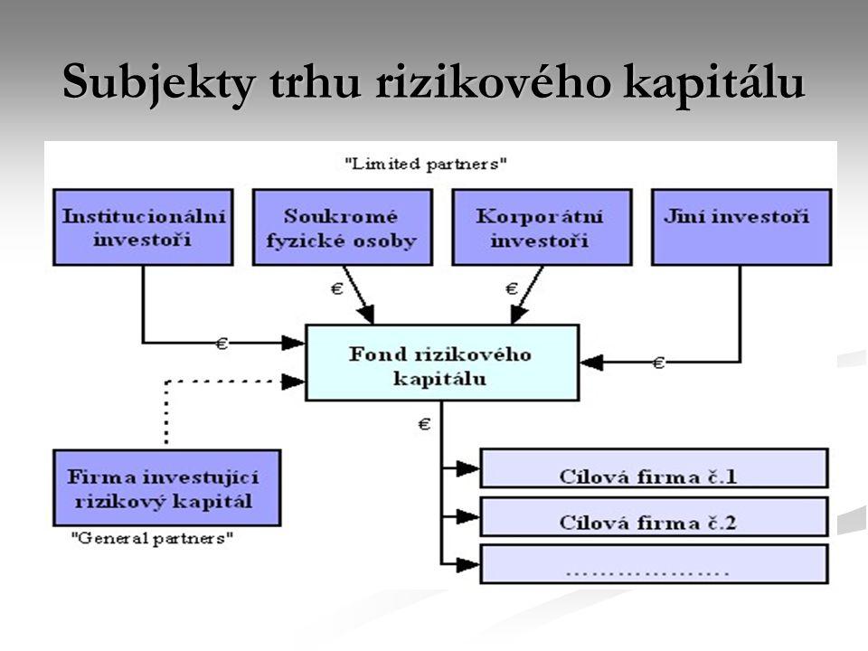 Subjekty trhu rizikového kapitálu