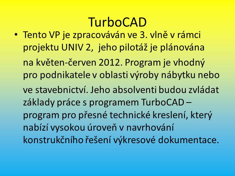 TurboCAD Tento VP je zpracováván ve 3.