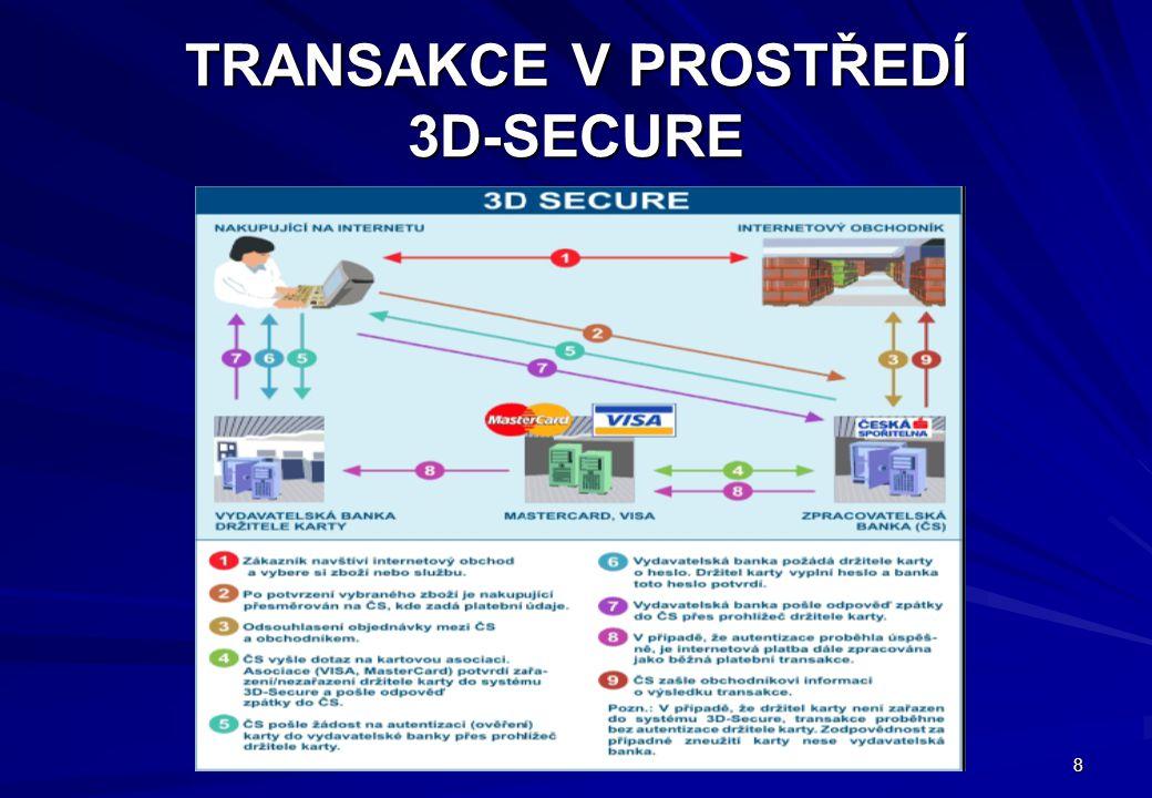 9 JAK 3D-SECURE POZNÁ ZÁKAZNÍK Loga asociací na www stránkách obchodníka: