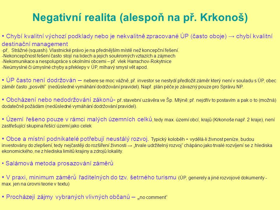 Negativní realita (alespoň na př.