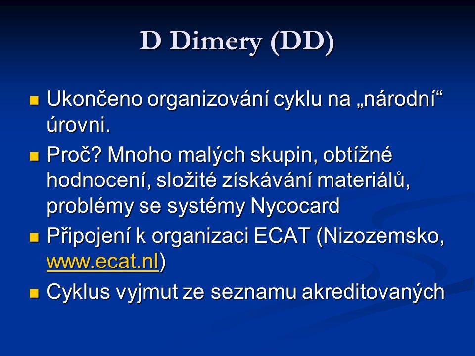 """D Dimery (DD) Ukončeno organizování cyklu na """"národní úrovni."""