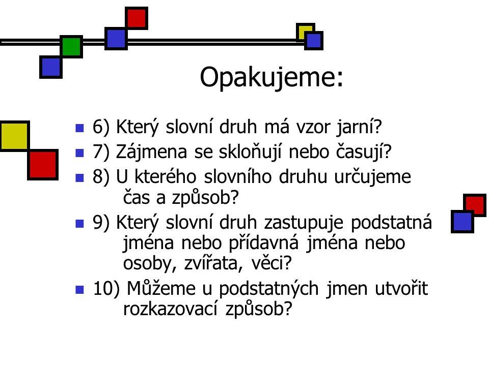 Slova ohebná 5.ročník ZŠ Použitý software: držitel licence - ZŠ J.