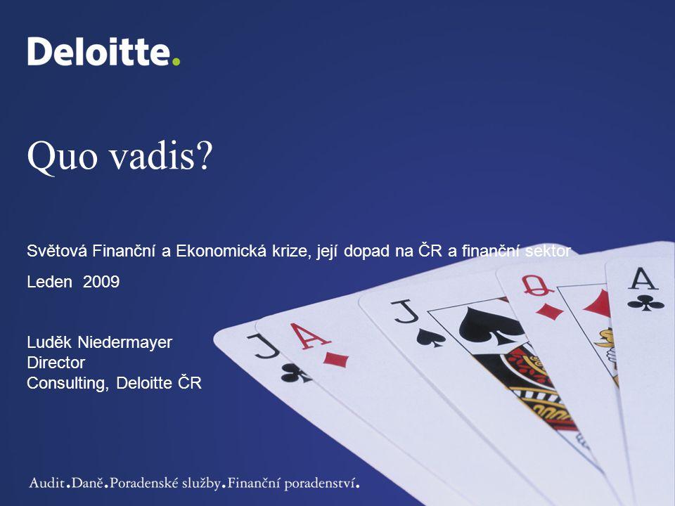 12© 2009 Deloitte Česká republika.Všechna práva vyhrazena.