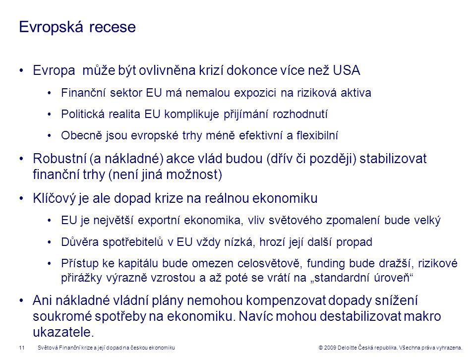 11© 2009 Deloitte Česká republika. Všechna práva vyhrazena.