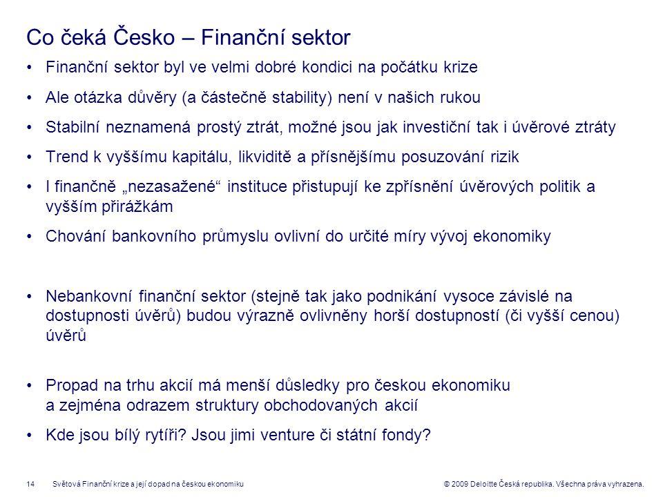14© 2009 Deloitte Česká republika. Všechna práva vyhrazena.