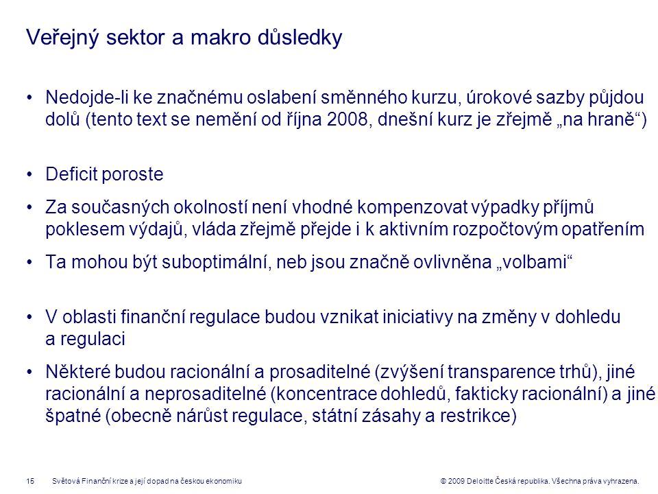 15© 2009 Deloitte Česká republika. Všechna práva vyhrazena.