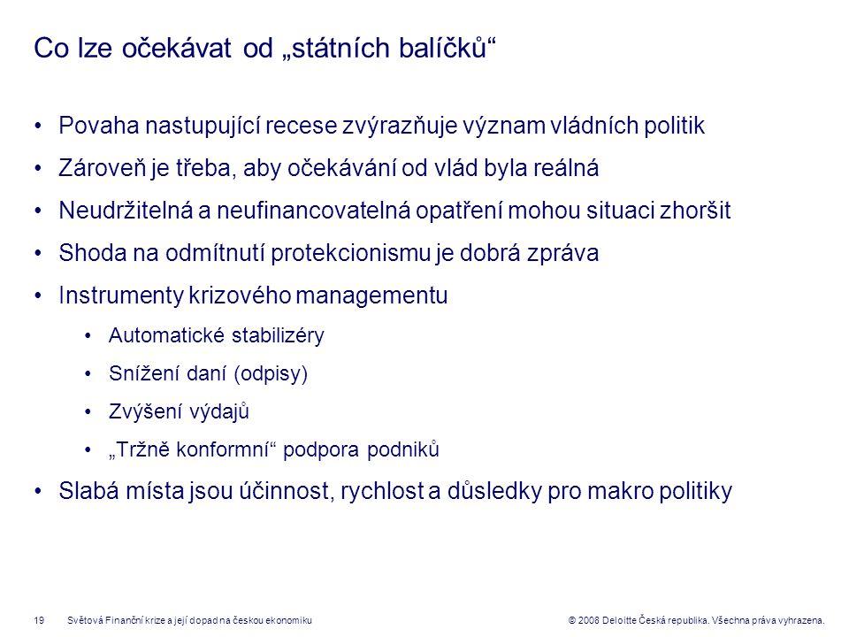 19© 2008 Deloitte Česká republika. Všechna práva vyhrazena.