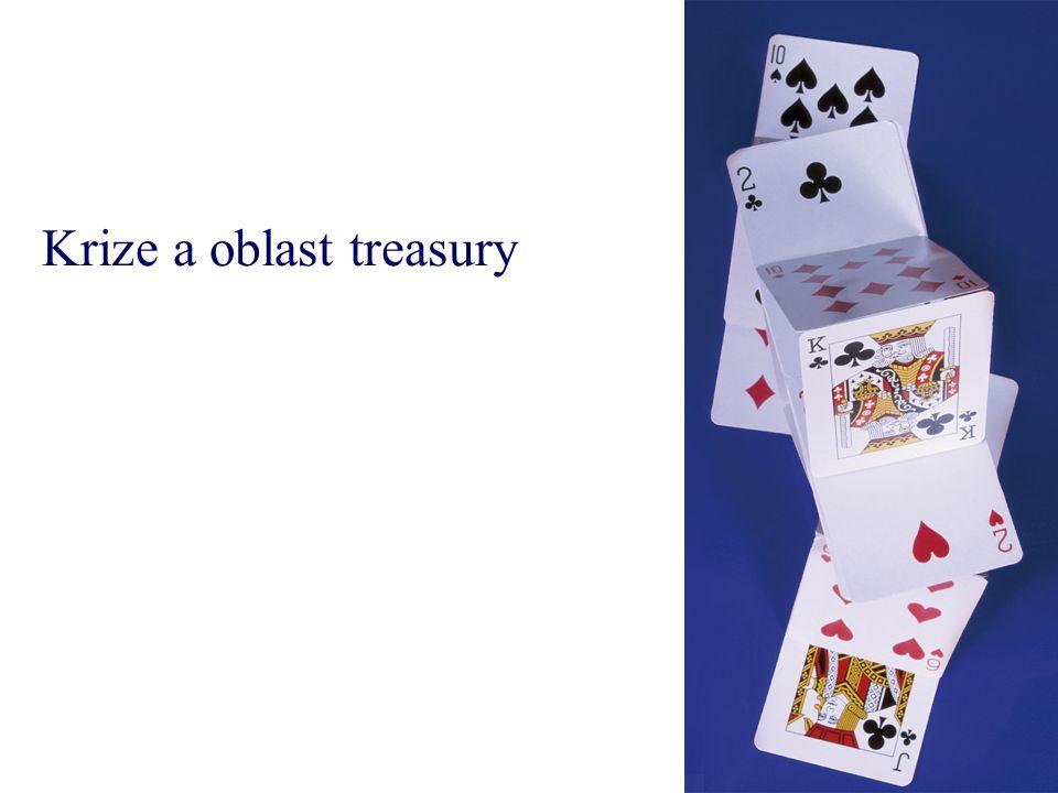 Krize a oblast treasury