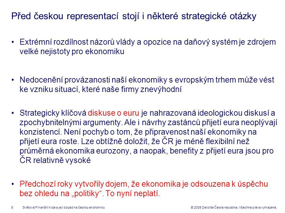 19© 2008 Deloitte Česká republika.Všechna práva vyhrazena.