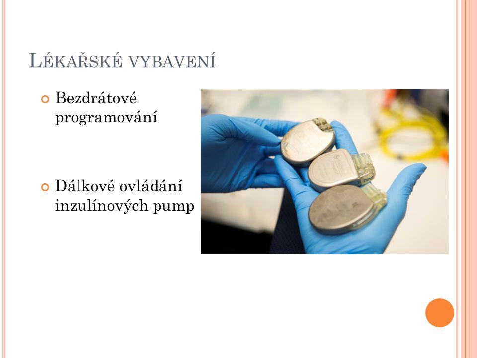 L ÉKAŘSKÉ VYBAVENÍ Bezdrátové programování Dálkové ovládání inzulínových pump