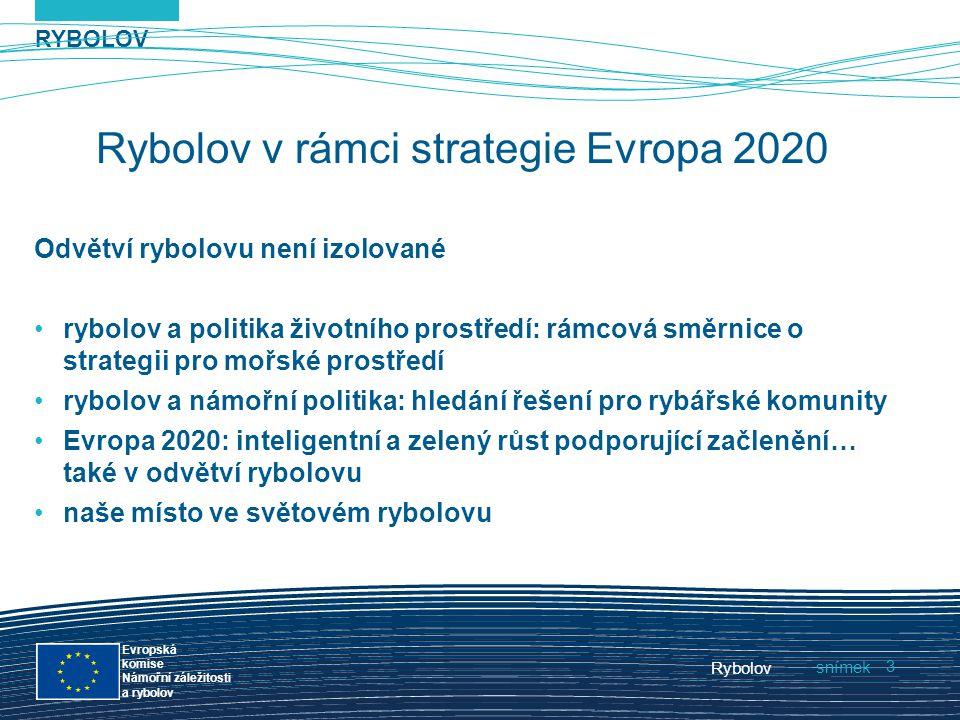 RYBOLOV snímek Evropská komise Námořní záležitosti a rybolov Rybolov 3 Rybolov v rámci strategie Evropa 2020 Odvětví rybolovu není izolované rybolov a