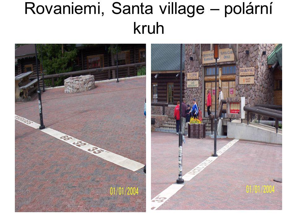 Rovaniemi, Santa village – polární kruh