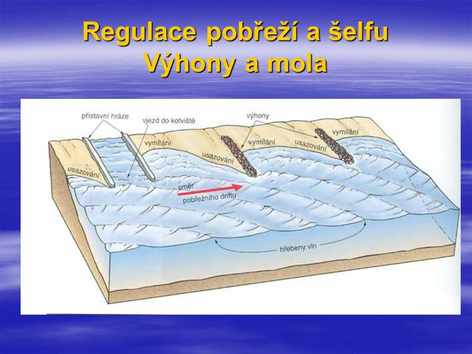 Regulace pobřeží a šelfu Výhony a mola