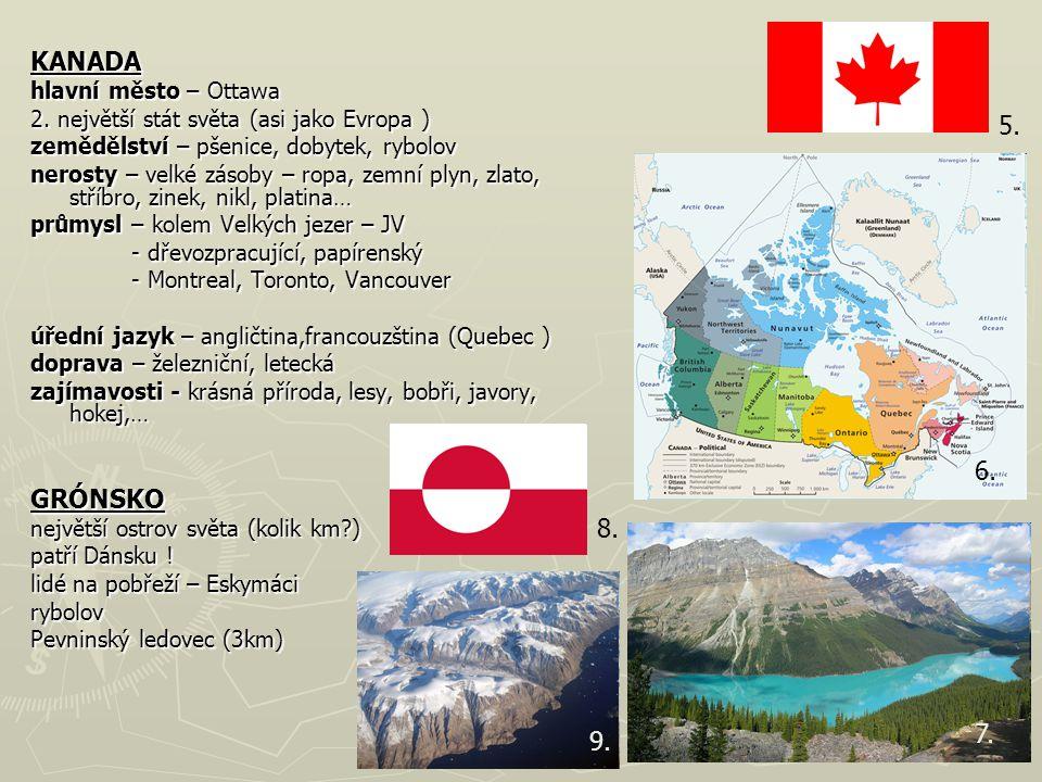 KANADA hlavní město – Ottawa 2.