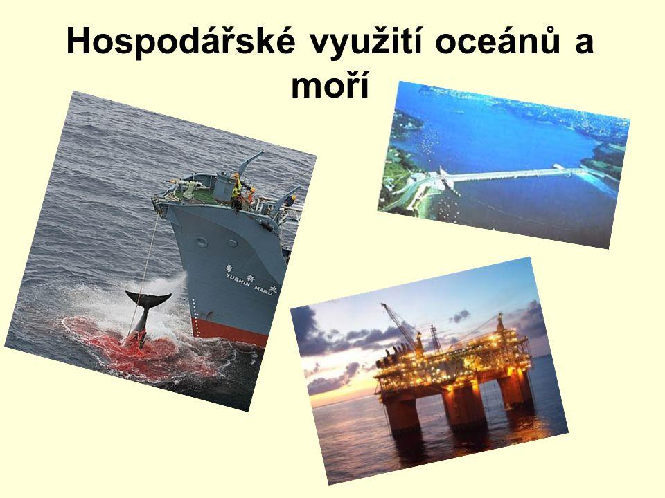 Obsah Rybolov Těžba nerostných surovin Energetický potenciál oceánů