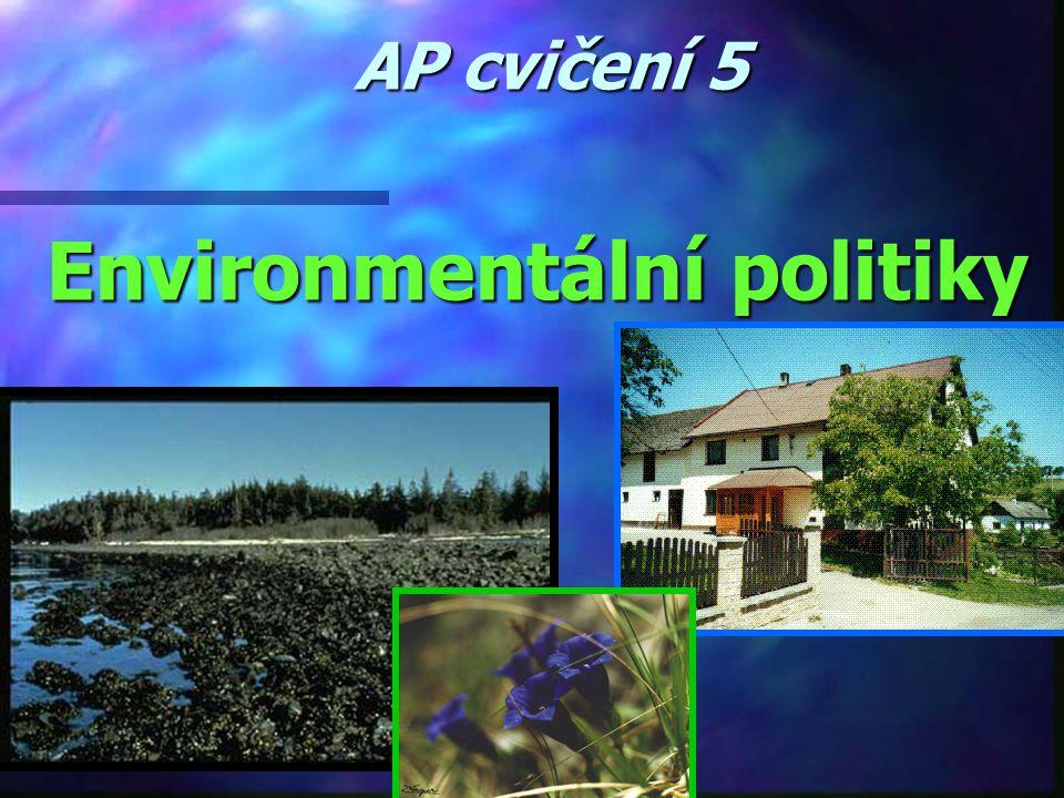 AP cvičení 5 Environmentální politiky