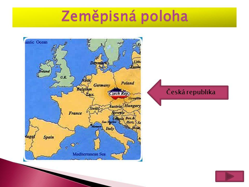 Česká republika Zeměpisná poloha
