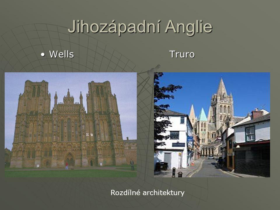 Jihozápadní Anglie Wells TruroWells Truro Rozdílné architektury