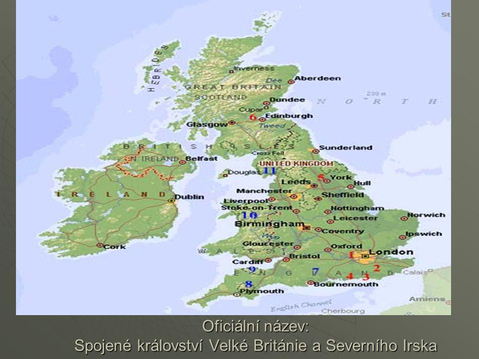  Rozloha: 244,880 km2  Hlavní město: London  Počet obyvatel: 58,258,000 (1995)  Podnebí: Mírné Mírné Velká Británie se skládá ze čtyř samostatných zemí - Anglie, Wales, Skotsko a Severní Irsko.