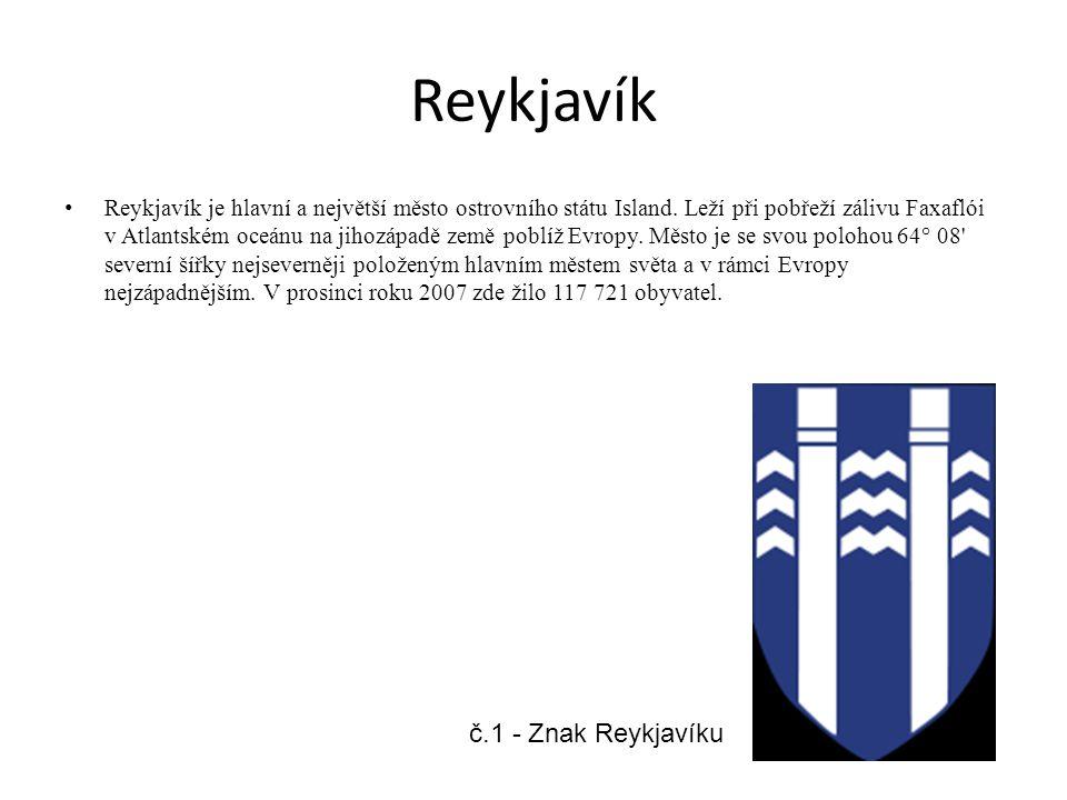 Reykjavík Reykjavík je hlavní a největší město ostrovního státu Island.