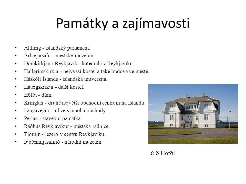 Památky a zajímavosti Althing - islandský parlament.