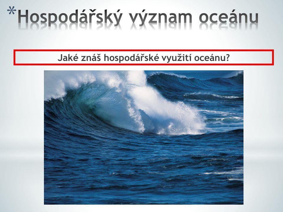 Jaké znáš hospodářské využití oceánu?