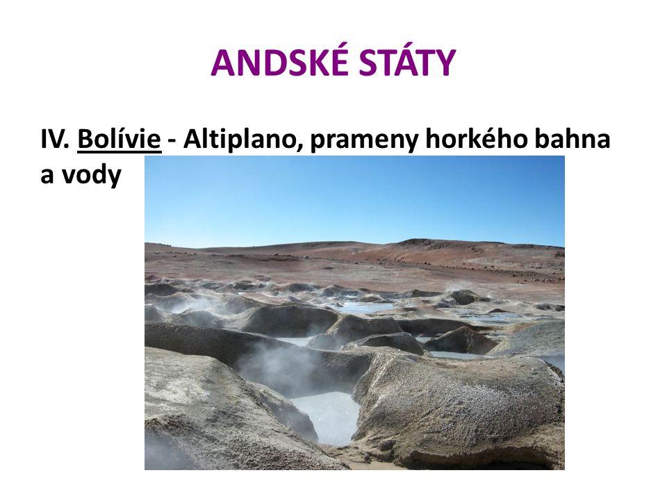 ANDSKÉ STÁTY IV. Bolívie - Altiplano, prameny horkého bahna a vody