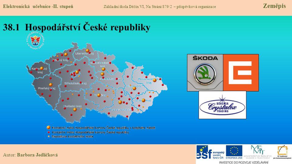 38.1 Hospodářství České republiky Elektronická učebnice -II.