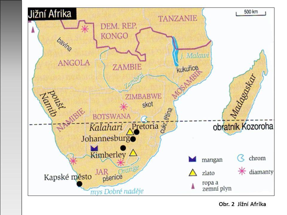 Obr. 2 Jižní Afrika