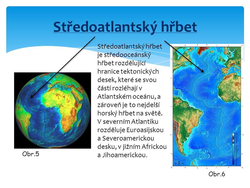 Středoatlantský hřbet Středoatlantský hřbet je středooceánský hřbet rozdělující hranice tektonických desek, které se svou částí rozléhají v Atlantském