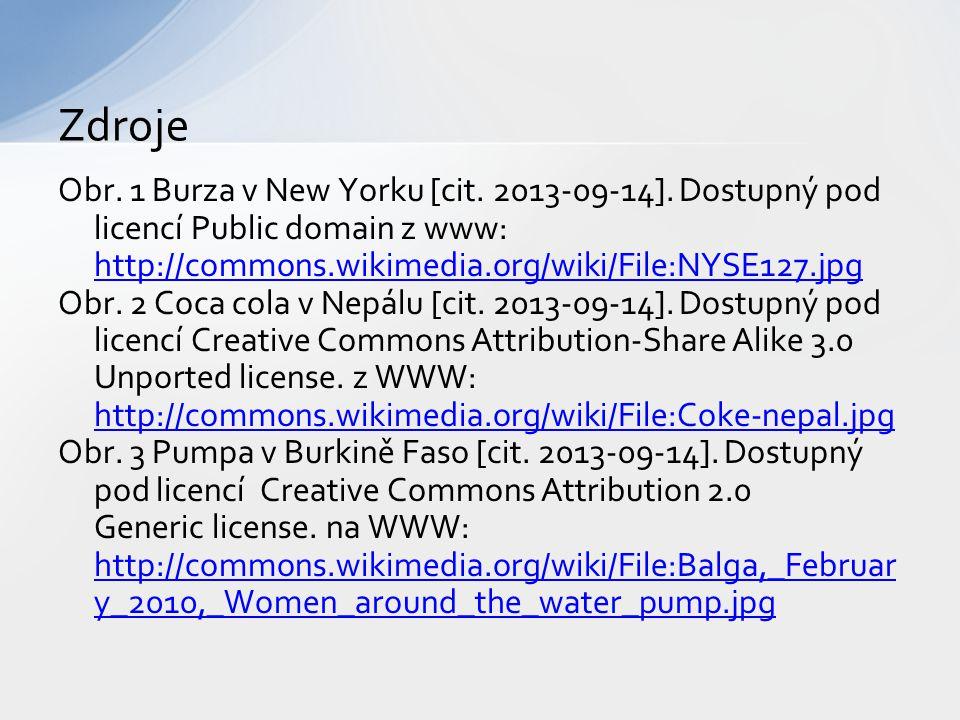 Obr. 1 Burza v New Yorku [cit. 2013-09-14]. Dostupný pod licencí Public domain z www: http://commons.wikimedia.org/wiki/File:NYSE127.jpg http://common