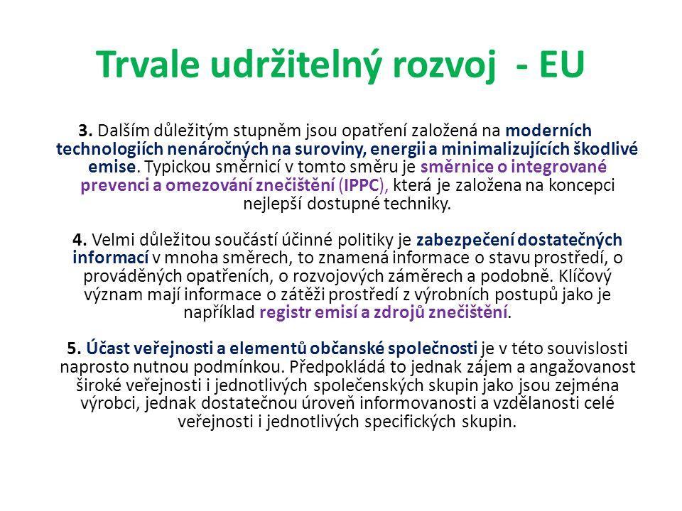 Trvale udržitelný rozvoj - EU 3.