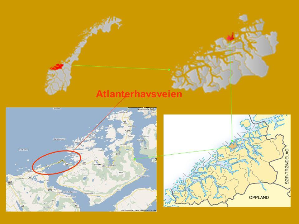 Atlantic Road (Atlanterhavsveien – v norštině) je velkolepá možnost jak se z kontinentu skokem dostat na ostrov Averøy fantastickou cestou přes moře po kroucených mostech.