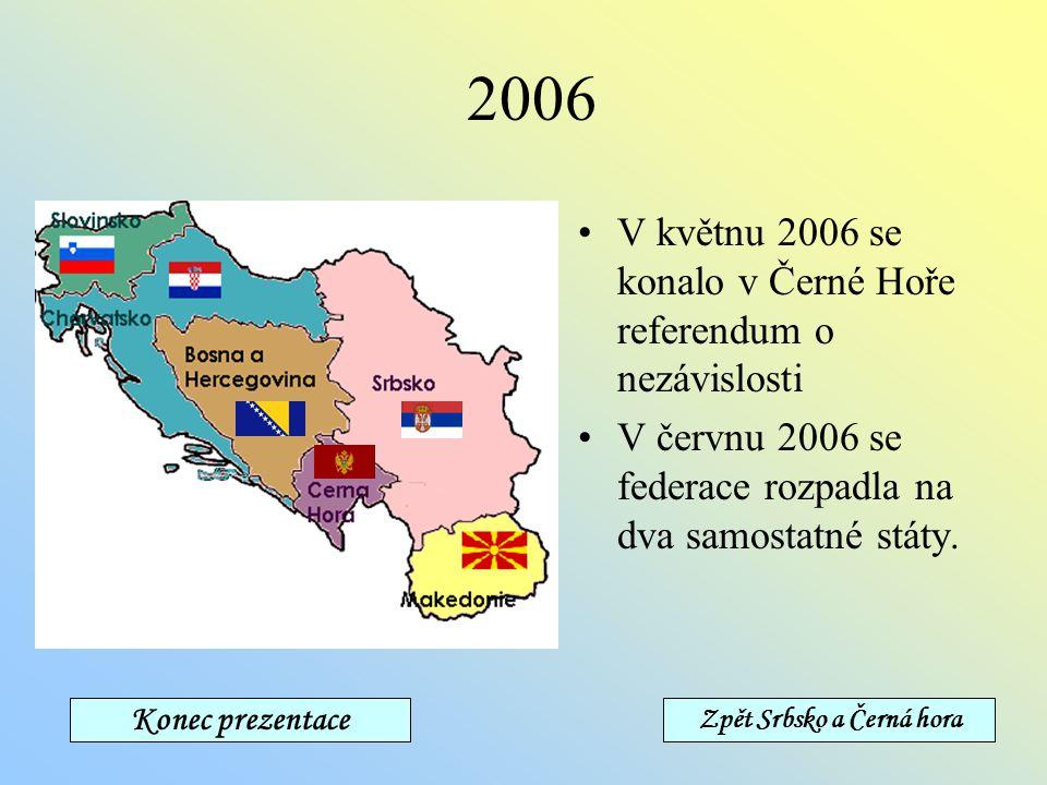 1995-2003 4.-7. srpna 1995 Chorvaté provedli operaci Bouře, obsadili Srbskou Krajinu a vyhnali Srby. Koncem roku se konala v americkém Daytonu mírová