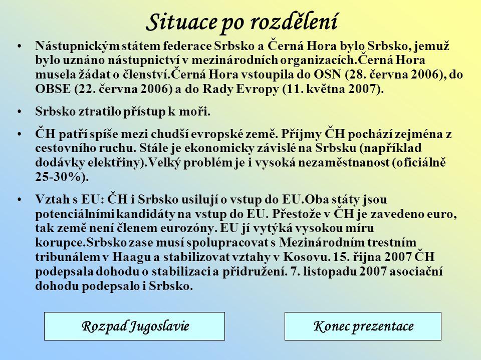 Referendum o nezávislosti Černé Hory Referendum se konalo 21. května 2006. Volební účast byla 86,3%. Pro vystoupení ze soustátí Srbsko a Černá Hora hl