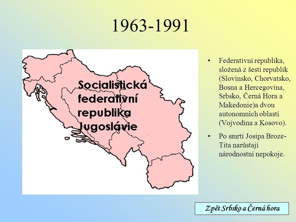 Situace po rozdělení Nástupnickým státem federace Srbsko a Černá Hora bylo Srbsko, jemuž bylo uznáno nástupnictví v mezinárodních organizacích.Černá H