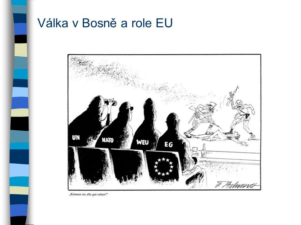 Válka v Bosně a role EU