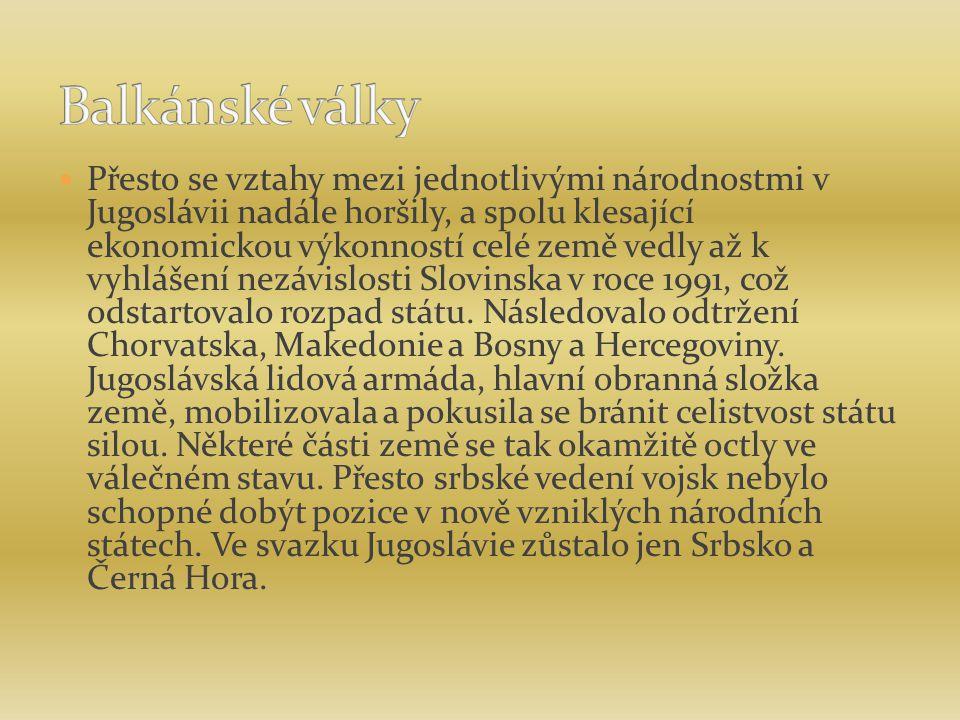 Přesto se vztahy mezi jednotlivými národnostmi v Jugoslávii nadále horšily, a spolu klesající ekonomickou výkonností celé země vedly až k vyhlášení nezávislosti Slovinska v roce 1991, což odstartovalo rozpad státu.