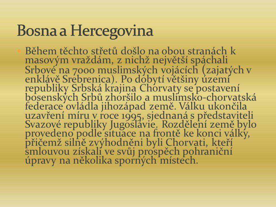 Během těchto střetů došlo na obou stranách k masovým vraždám, z nichž největší spáchali Srbové na 7000 muslimských vojácích ( zajatých v enklávě Srebr