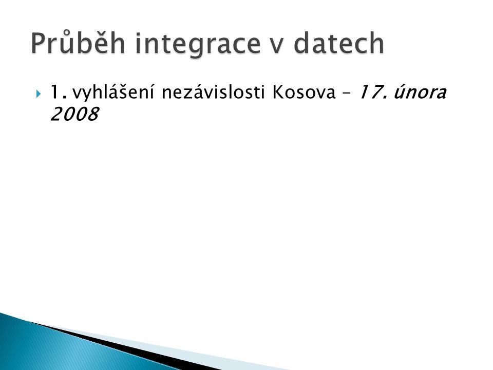  1. vyhlášení nezávislosti Kosova – 17. února 2008