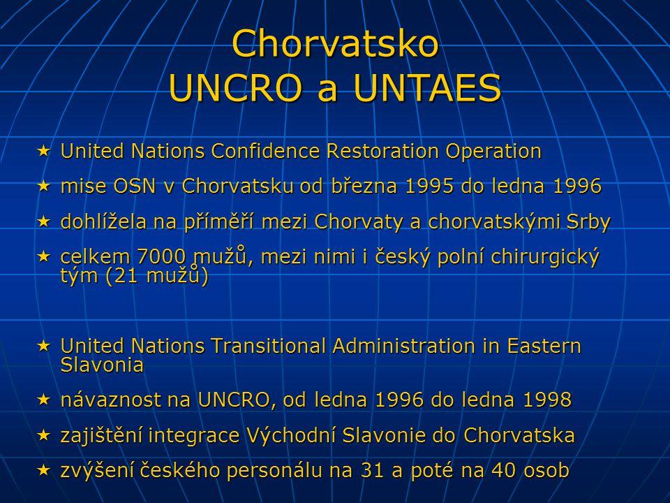  United Nations Confidence Restoration Operation  mise OSN v Chorvatsku od března 1995 do ledna 1996  dohlížela na příměří mezi Chorvaty a chorvats