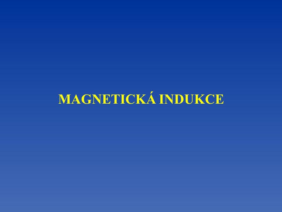 S N Vodič s proudem v magnetickém poli Vodič s proudem se vychýlí ze své rovnovážné polohy v magnetickém poli působením magnetické síly F m.