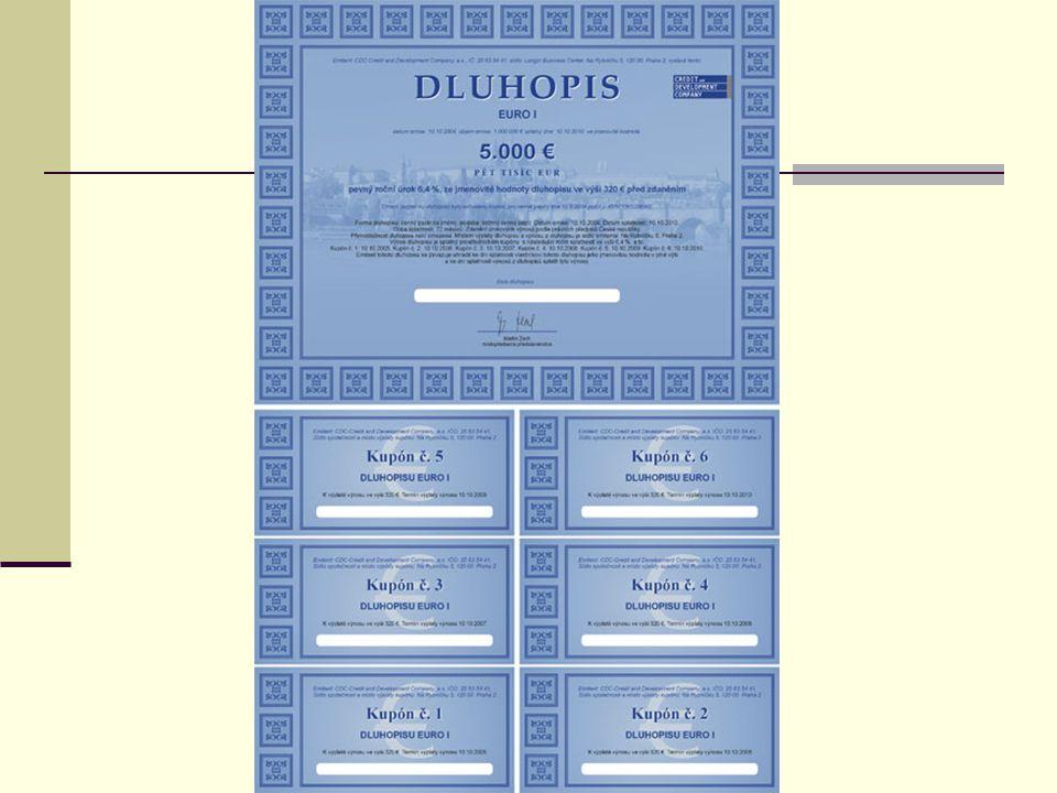 Emitent cenného papíru - subjekt, kterému byly poskytnuty nebo svěřeny - cenný papír toto poskytnutí vč.