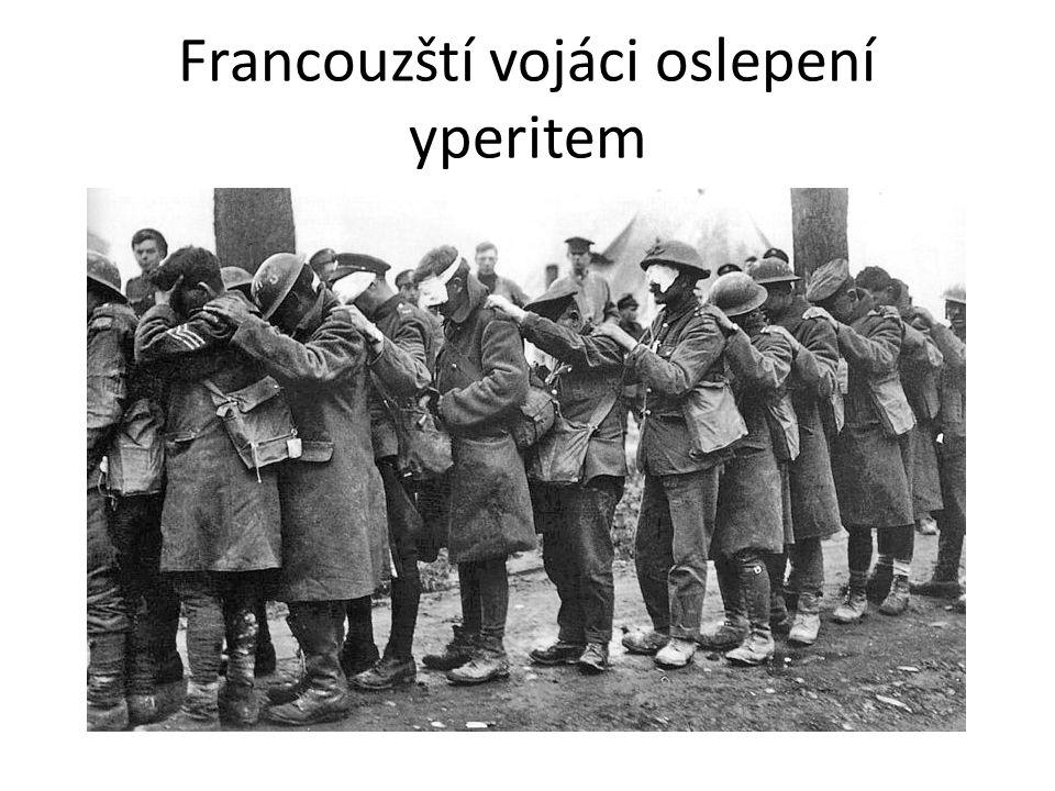 Francouzští vojáci oslepení yperitem