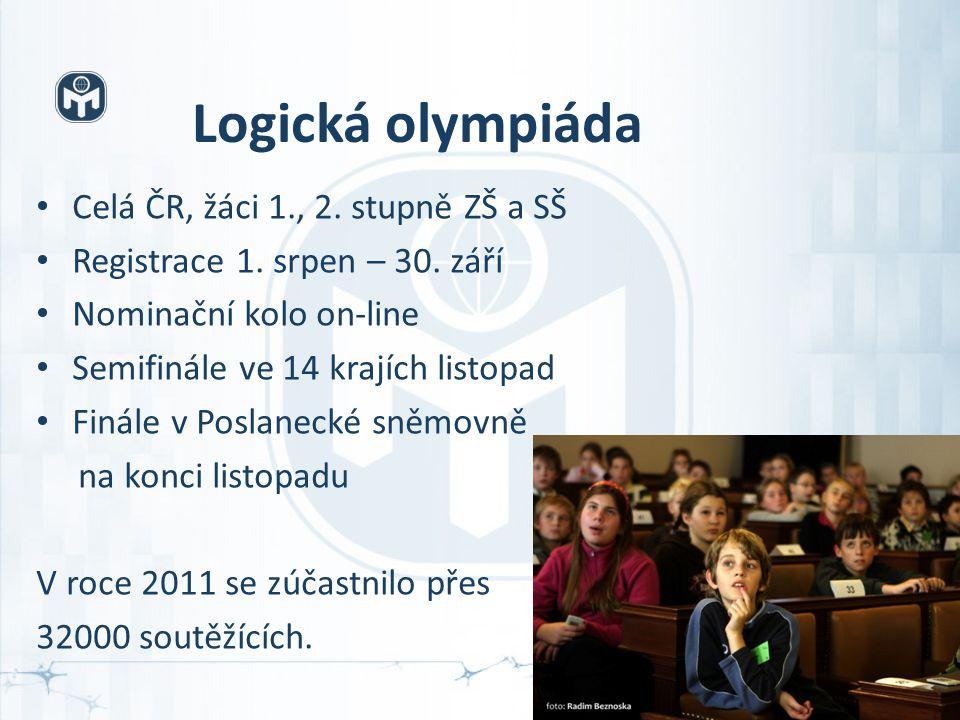 Logická olympiáda Celá ČR, žáci 1., 2. stupně ZŠ a SŠ Registrace 1.