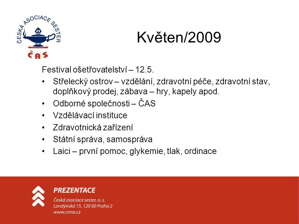 Květen/2009 Festival ošetřovatelství – 12.5.